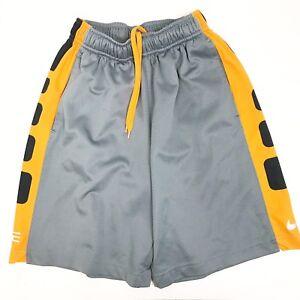 c4c3e47f24f2 Nike Elite Dri Fit Athletic Basketball Shorts Boys Small S Black ...