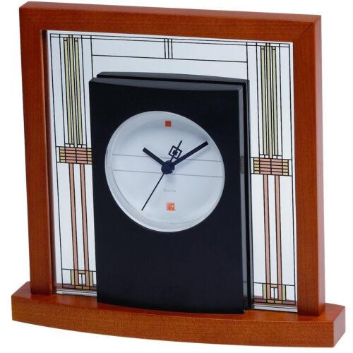 Bulova Frank Lloyd Wright Willits Table Clock in Cherry