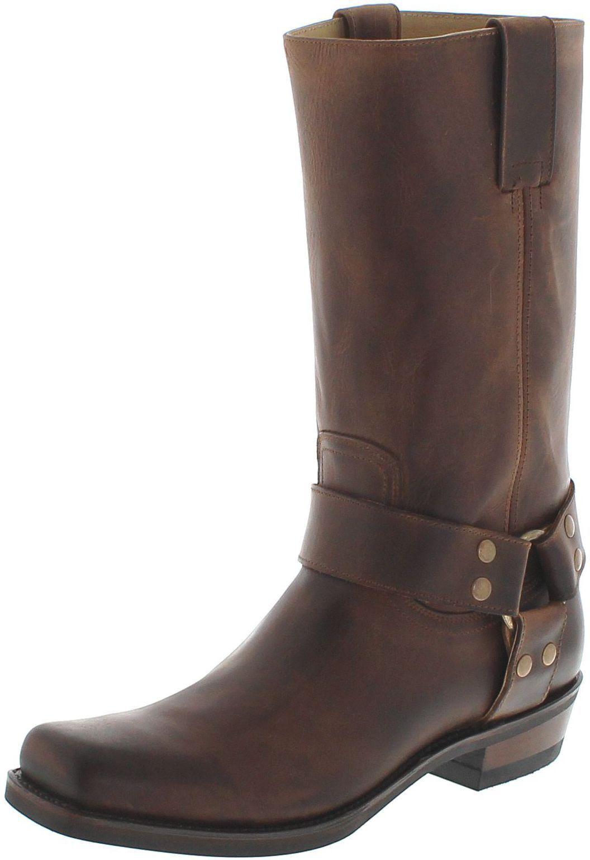 Fashion botas bu2001 marrón-marrón señora & señores botas de motorista