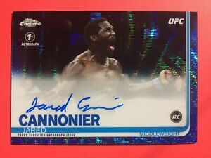 Ufc-Topps-2019-Autograph-Jared-Cannonier-14-75-1st-Auto-Blue-Ruby-Rc