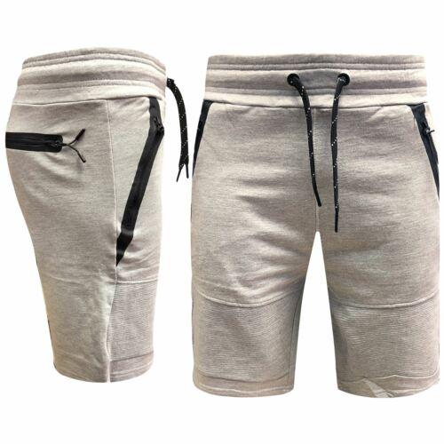 Men Designer Fashion Fleece Shorts Zipped Jogging Gym Pants Running Jersey Pants