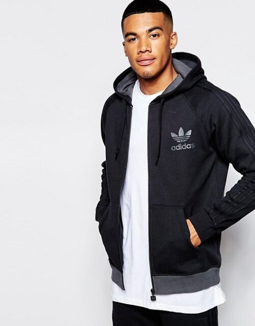 buy popular df9e0 66945 adidas Originals SPO Trefoil Mens Full Zip Black Hoody Medium Ab7588 ...