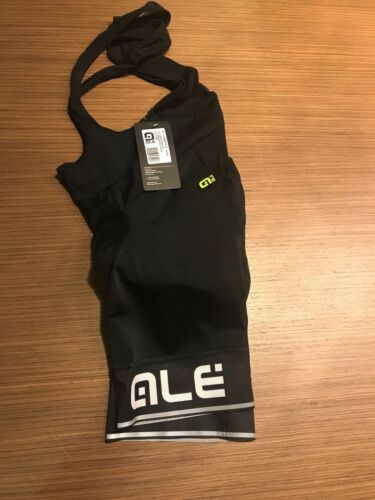 Ale Cycling Bib Shorts Corsa Solid Mens-Black//White|Size M|Authentic|BRAND NEW