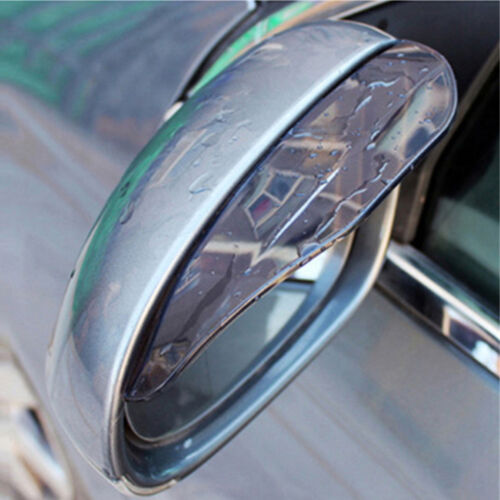 2 pcs  Black Car Rearview Mirror Rain Water Rainproof Eyebrow Cover Side Shield
