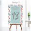 Personalised-Wedding-Table-Numbers-Floral-Theme-Party-Name-Cards-A5-A6-A7 thumbnail 7