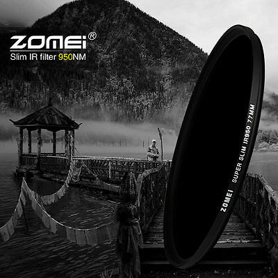 ZOMEI 43/46/49/52/55/58/62/67/72/77/82mm 680nm Infrared X-RAY IR Filter For DSLR
