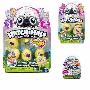 Hatchimals Colleggtibles Season 3 Bundle 4 Pack with Bonus - 2 Pack & Blind Bag