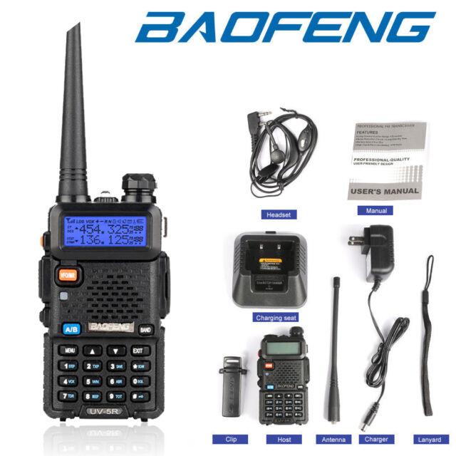 10 x BAOFENG UV-5XP VHF UHF 400-520MHz Dual Band Two Way Radio 128CH Walkie 5 8W