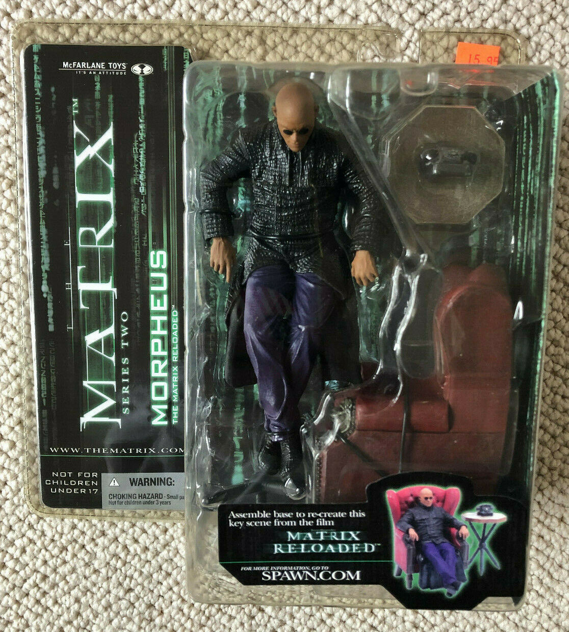 New Morpheus Chair The Matrix Reloaded Series 2 Mcfarlane Toys Action Figure 787926177336 Ebay