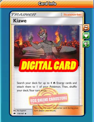 4X Plumeria 120//147 Pokemon Online Card TCG PTCGO Digital Card