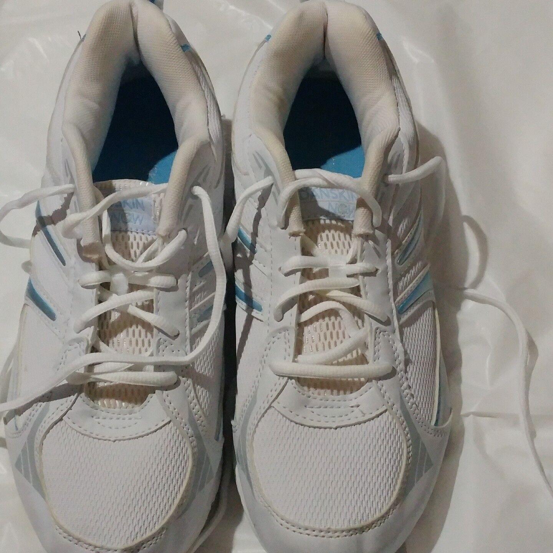 Pre-owned Danskin Now Women's White/Carolina Athletics Size 11 Color White/Carolina Women's Blue & Gray c8b577