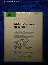 Sony Bedienungsanleitung CCD TR760E /TR810E /TR610E Video Camera (#3611)