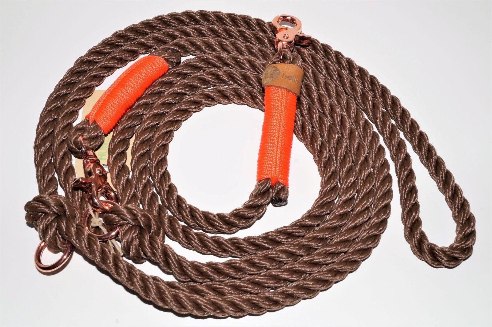 Hundeleine Tau 250cm braun Orange RosaGold    | Spielzeugwelt, spielen Sie Ihre eigene Welt  3df452