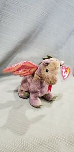 a5714eda797 Image is loading Ty-Beanie-Baby-Scorch-the-Dragon-1998-MWMT-