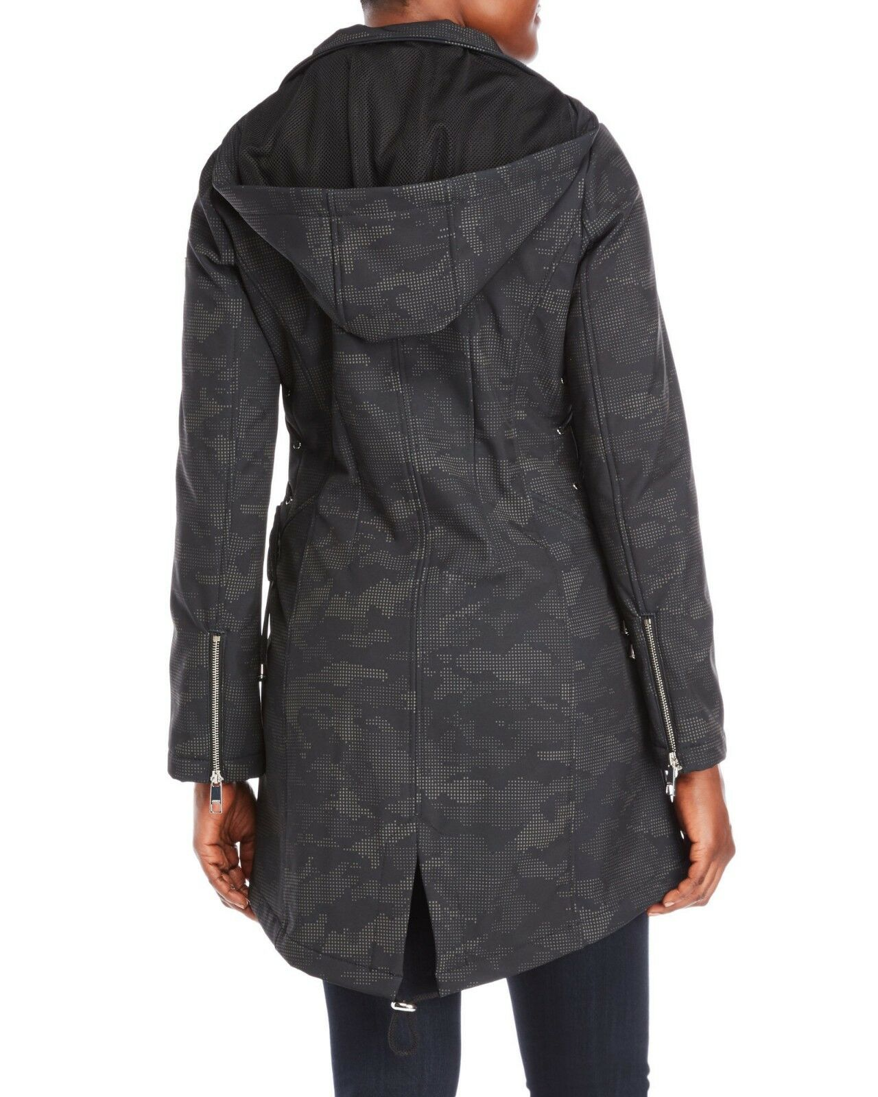 NEW  Guess Hooded Lace-Up Digital Camouflage Softshell Softshell Softshell Coat Size M 51f78b