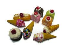 10 Loose Mix Chocolate Bakery Dollhouse Miniatures Food Bakery Supply Deco-10