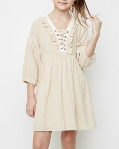 GIRLS Ruffled Peasant Dress
