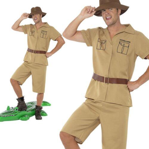 Adult Jungle Safari Man Fancy Dress Costume Explorer Man Outfit M L