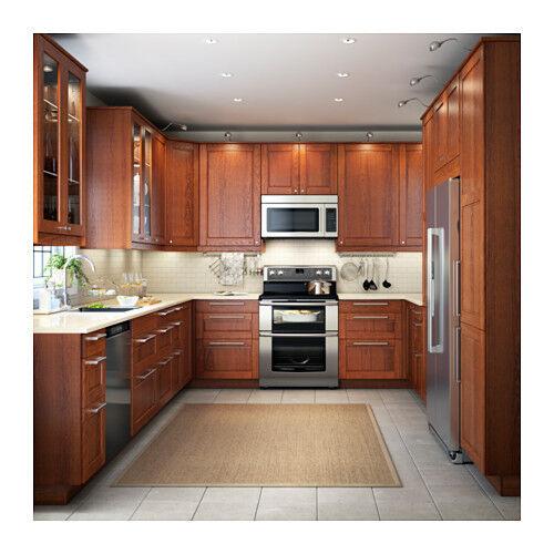 Ikea Kitchen Doors 2 Ramsjo Black 18 X 30 Glass Kitchen Cabinet Door Set For Sale Online Ebay