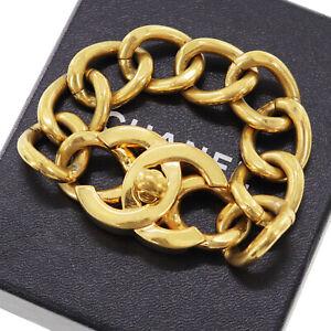 Turn Lock Chain Bracelet Gold Plated