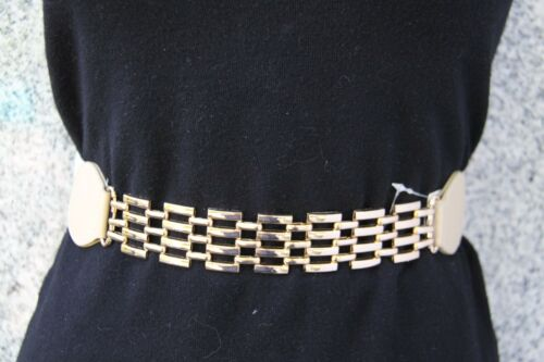 Muy bonito cinturón goma beige delantero oro talla 100 de bodyflirt