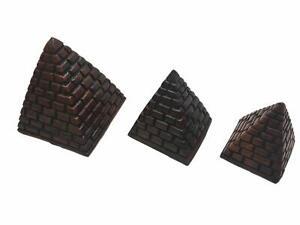Three Egyptian Pyramids Stone Set (Brown Saqqara)