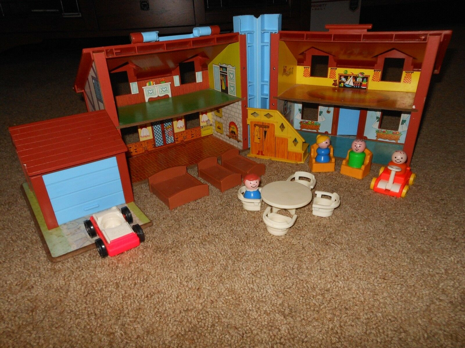 Fisher Fisher Fisher Price Vintage Little People 1969 Tudor House c4265f
