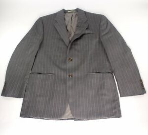 Lauren-Ralph-Lauren-Wool-Cashmere-Gray-Pin-Striped-Sport-Coat-Suit-Jacket-42-L