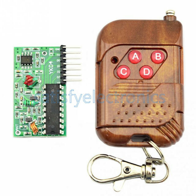 IC 2262//2272 4 CH Key Wireless Remote Control 315MHZ Receiver module F Arduino