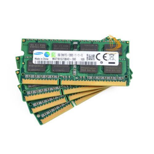 For Samsung 16GB 24GB 8GB 8 GB DDR3 1600Mhz PC3-12800 SODIMM Laptop RAM Memory