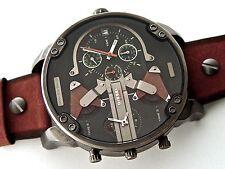 Latest Diesel Men's DZ7332 'Mr Daddy 2.0' Chronograph Brown Leather Watch