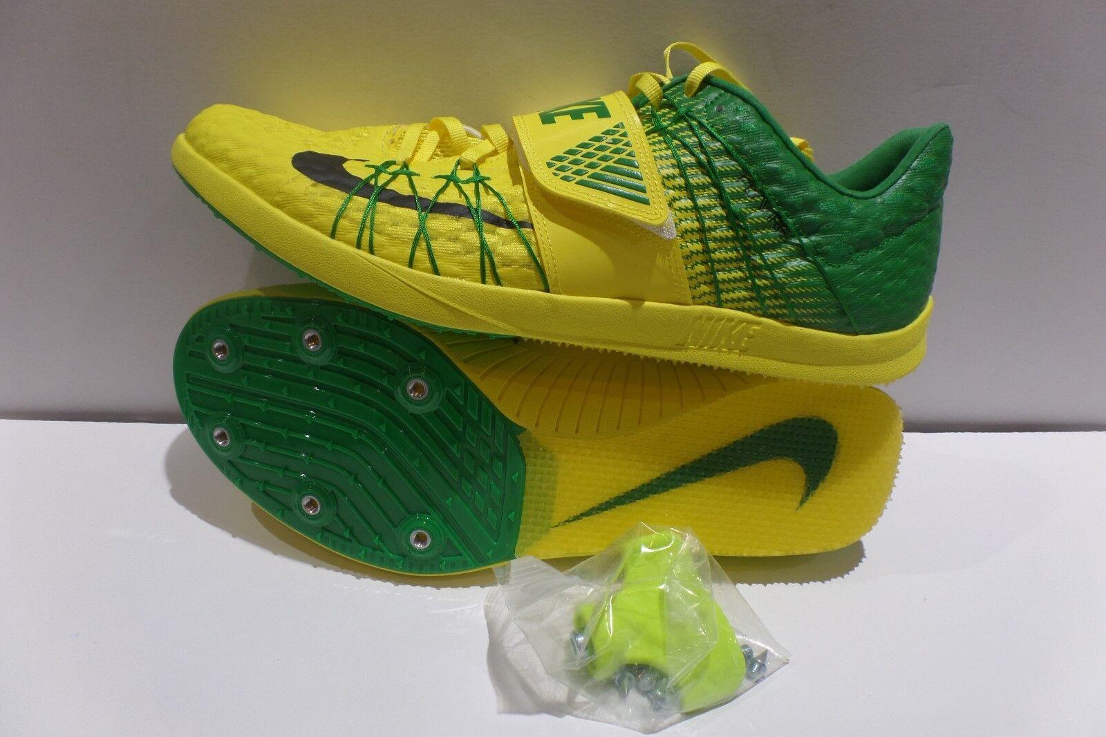 Nike Zoom TJ Elite Oregon Track Spike shoes Yellow 920760-703 Mens Size 11.5