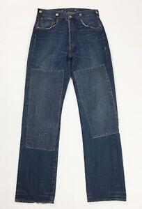 Levis-125-555-W30-L34-tg-44-jeans-uomo-usato-blu-comodo-relaxed-boyfriend-T4179