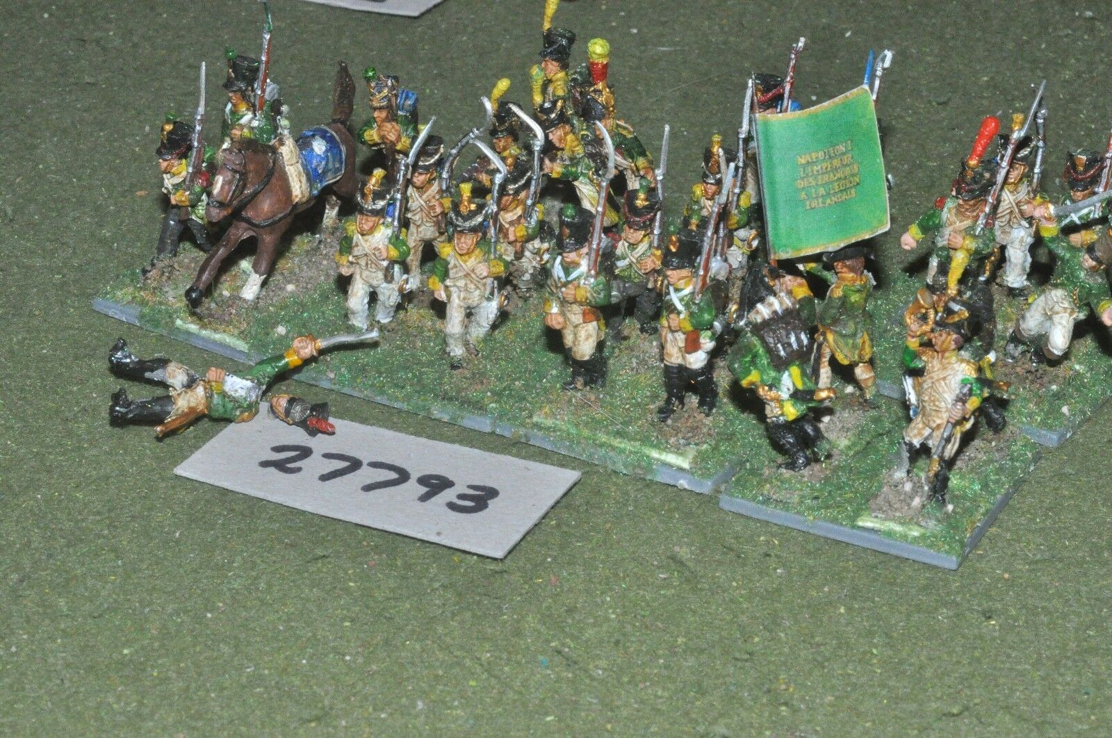 25mm napoleonic   french - irish legion 28 figures - inf (27793)