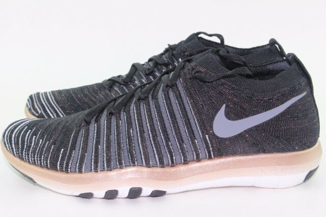 85c774a1c310 NIKE FREE TRANSFORM FLYKNIT WOMEN SIZE 9.5 BLACK COOL GREY NEW TRAINING  LEGIT
