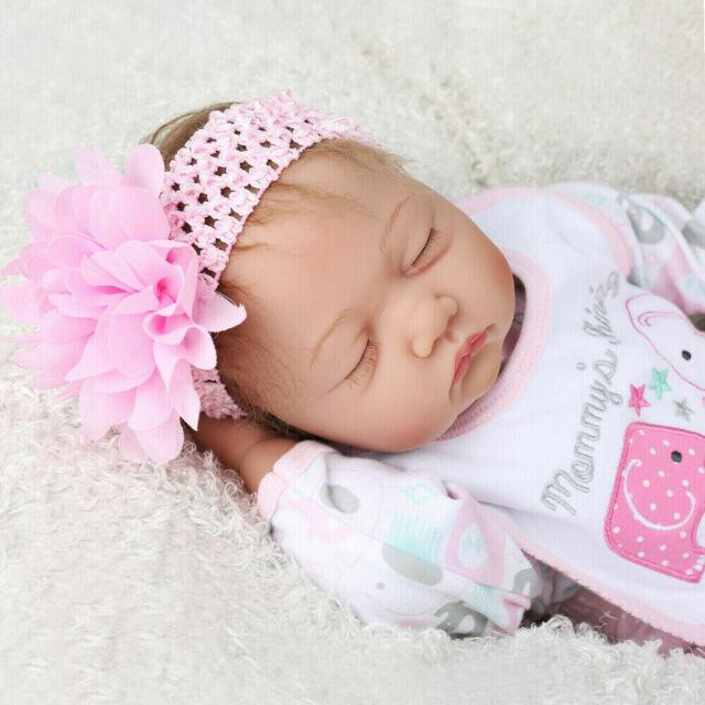 "16/""Reborn BabyDoll Smile Girl Newborn Lifelike Handmade Silicone Soft Vinyl Doll"