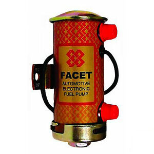 1x-Facet-476459-Silver-Top-Competition-Cylindrical-Fuel-Pump-STC505