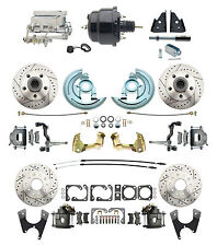 """Front & Rear D/S Disc Brake Conversion Kit, 7"""" Dual pc, Aluminum Chrome MC Kit"""