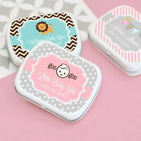 96 Baby Shower Custom Personalized Mint Tins Party Favors Candy Boxes Q46410
