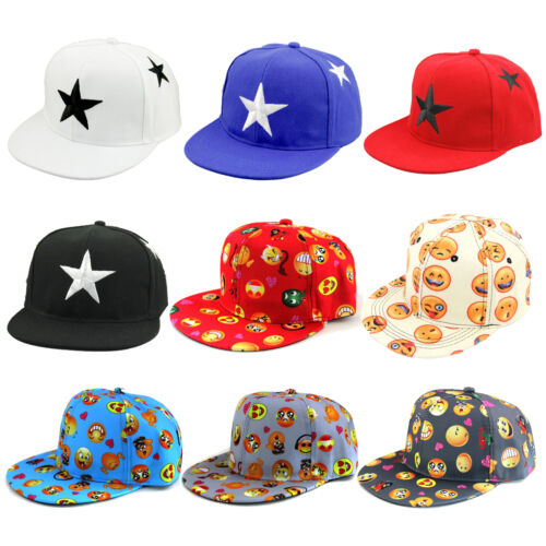 Toddler Kids Boys Girls Star Emoji Baseball Cap Children Snapback Hip-hop Hats