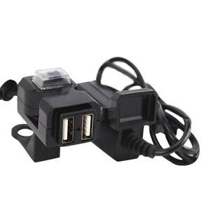 Presa-per-caricabatterie-manubrio-moto-Dual-USB-12V-impermeabile-con-interrut-T