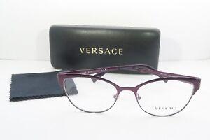 64b92dfd1092 Details about Versace Women's Purple Glasses with case MOD 1240 1397 53mm