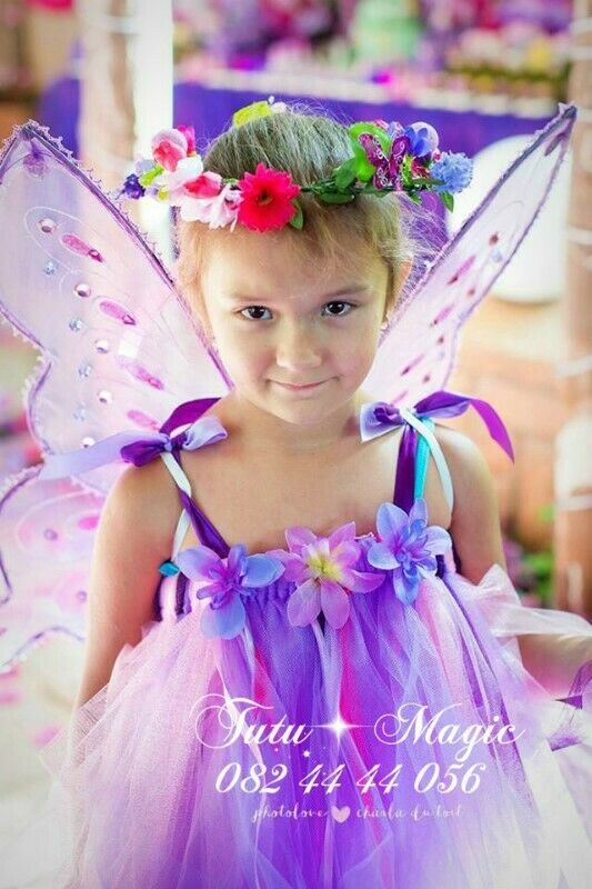 FAIRY TUTU DRESSES, WINGS AND FLOWER HALOS