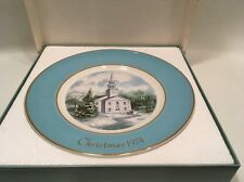 "1974 AVON CHRISTMAS 8.5"" PLATE Wedgwood COUNTRY CHURCH 2nd Edition In Box New"
