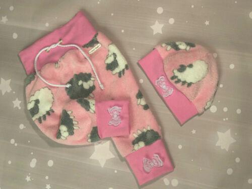 Kinder Baby Kuschelhose Polarfleece Pumphose Set Mütze Hose Mädchen 62 68 74