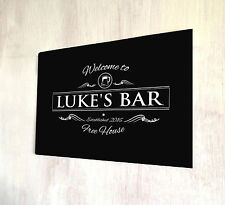 Personalised Bar sign Welcome Beer label Bar sign Home Bar