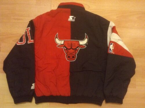 Chicago BULLS STARTER S small M JacketVeste. Vintage 90's COLLECTOR GCBE!