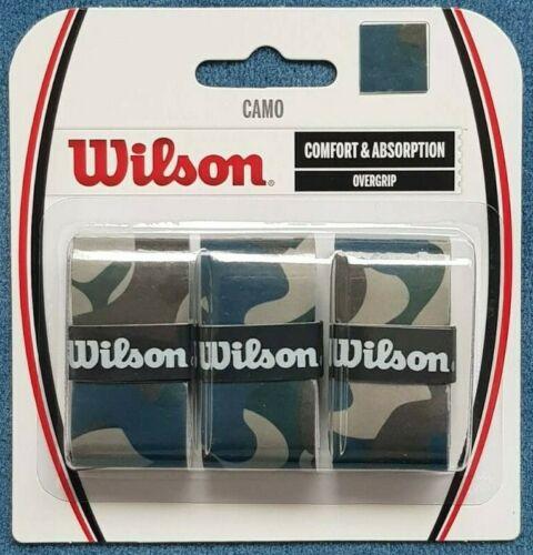 Wilson Camo Overgrip Blau blau grau 3er-Pack neu Camouflage