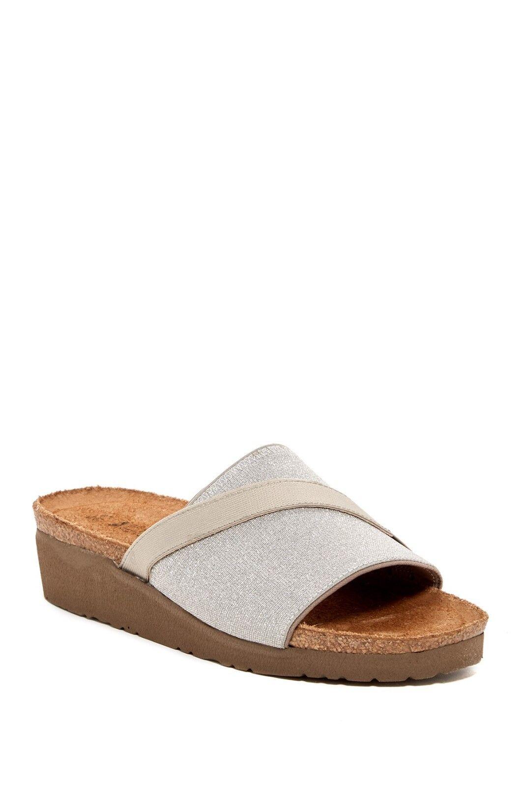 NAOT Sandale Marion Slide ORTHOTIC Wedge Sandale NAOT Mule NIB SILVER SPARKLE Sz 37 - 41 130 5b30bd