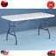 6 ft folding table centerfold portable plastic home indoor outdoor picnic party.